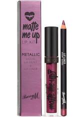 Barry M Cosmetics Matte Me Up Metallic Lip Kit (Various Shades) - Avant Garde