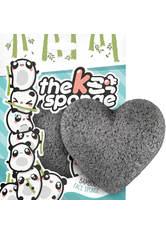 The Konjac Sponge Company K-Sponge Heart Sponge - Bamboo Charcoal 12g