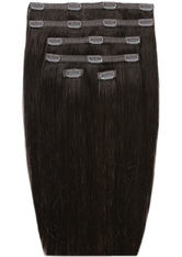 Beauty Works Double Hair Set 18 Inch Clip-In Hair Extensions (Various Shades) - Ebony 1B