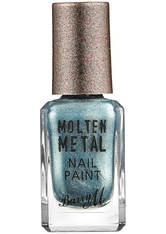 BARRY M - Barry M Cosmetics Molten Metal Nail Paint - Blue Glacier - NAGELLACK
