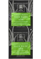 APIVITA Express Moisturizing Face Mask - Aloe 2x8ml