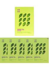 Holika Holika Pure Essence Mask Sheet (5 Masks) 155ml (Various Options) - Green Tea