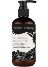 Elemental Herbology Mandarin and Geranium Hand and Body Cream 300ml