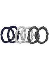 Slip - Set Aus Sechs Schmalen Haargummis Aus Seide - Mehrfarbig - one size