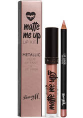 Barry M Cosmetics Matte Me Up Metallic Lip Kit (Various Shades) - Couture