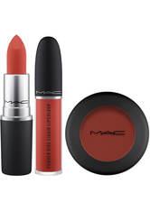 MAC - MAC Powder Kiss Devoted to Chili Trio Kit - Makeup Sets