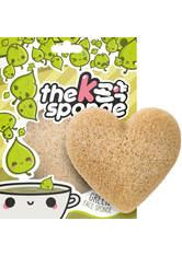The Konjac Sponge Company K-Sponge Heart Sponge - Green Tea 12g