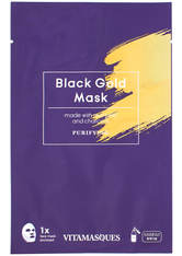 VITAMASQUES - Vitamasques Black Gold Dust Sheet Mask 20ml - TUCHMASKEN
