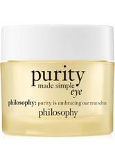 philosophy purity made simple eye gel 15ml