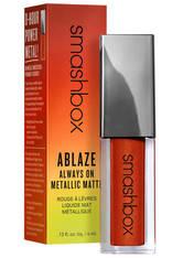 Smashbox Lippen Ablaze Always On Metallic Matte 4 ml Blow Torch