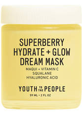 YOUTH TO THE PEOPLE - YOUTH TO THE PEOPLE Superberry Hydrate & Glow Dream Mask 59 ml - CREMEMASKEN