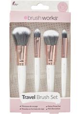 INVOGUE Produkte Brushworks - Travel Makeup Brush Set - White & Gold Geschenkset 1.0 pieces