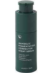 ALLIES OF SKIN - Allies of Skin Pflege Allies of Skin Pflege Mandelic Pigmentation Corrector Night Serum Anti-Aging Gesichtsserum 30.0 ml - Serum