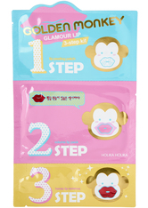 HOLIKA HOLIKA - Holika Holika Golden Monkey Glamour Lip 3-Step Kit - LIPPENMASKEN