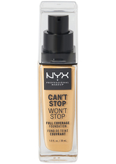 NYX Professional Makeup Can't Stop Won't Stop 24-Hour Foundation Flüssige Foundation  30 ml Nr. 08 - True Beige
