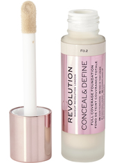 MAKEUP REVOLUTION - Revolution - Foundation - Conceal & Define Foundation - F0.2 - Concealer