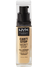 NYX Professional Makeup Can't Stop Won't Stop 24-Hour Foundation Flüssige Foundation  30 ml Nr. 6.3 - Warm Vanilla