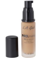 L.A. Girl - Foundation - Pro Matte - HD Long Wear Matte Foundation - 719 Deep Tan