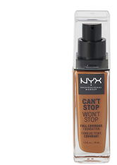 NYX Professional Makeup Can't Stop Won't Stop 24-Hour Foundation Flüssige Foundation  30 ml Nr. 19 - Mocha