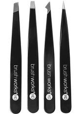 INVOGUE Produkte Brushworks - HD 4 Piece Combination Tweezer Set - Black Augenpflegeset 1.0 pieces