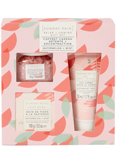 SUNDAY RAIN - Watermelon + Mint Relax + Unwind Gift Set - Körperpflegesets