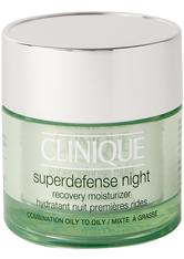 CLINIQUE - Clinique Feuchtigkeitspflege Clinique Feuchtigkeitspflege Superdefense Night - Recovery Moisturizer Hauttyp 3&4 - 50ml Gesichtscreme 50.0 ml - Nachtpflege