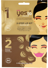 YES TO - Coconut 2Step Pucker Up Lip Kit - LIPPENMASKEN