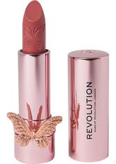 MAKEUP REVOLUTION - Precious Glamour Butterfly Lipstick Regal - Lippenstift