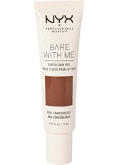 NYX PROFESSIONAL MAKEUP - NYX Professional Makeup Bare With Me Tinted Skin Veil Flüssige Foundation  27 ml Nr. 12 - Deep Espresso - Bb - Cc Cream