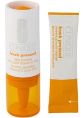 Clinique Pflege Anti-Aging Pflege Fresh Pressed 7 Day System Daily Booster Pure Vitamin C 10% 8,5 ml + Renewing Powder Cleanser 7 x 0,5 g 1 Stk.