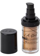 L.A. Girl - Foundation - Pro Coverage Liquid Foundation - GLM 647 - Warm Beige