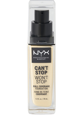 NYX PROFESSIONAL MAKEUP - NYX Professional Makeup Can't Stop Won't Stop 24-Hour Foundation Flüssige Foundation  30 ml Nr. 01 - Pale - Foundation