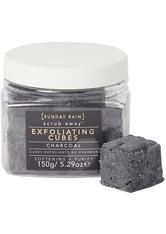 SUNDAY RAIN - Charcoal Exfoliating Cubes - Körperpeeling