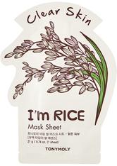 TONYMOLY - I'm Real Rice Mask Sheet Clear Skin - TUCHMASKEN