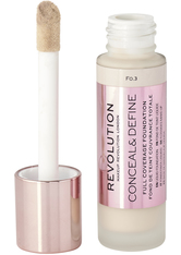 MAKEUP REVOLUTION - Revolution - Foundation - Conceal & Define Foundation - F0.3 - Concealer