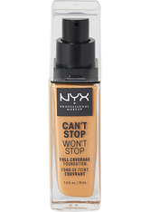 NYX Professional Makeup Can't Stop Won't Stop 24-Hour Foundation Flüssige Foundation  30 ml Nr. 12.5 - Camel