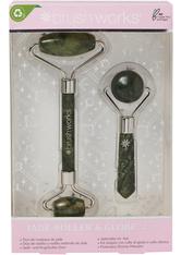 brushworks Jade Roller and Globe Set