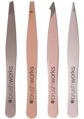 INVOGUE Produkte Brushworks - HD Kombination Tweezer Set - Gold Pinzette 1.0 pieces