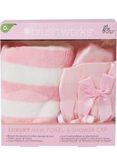 brushworks Luxury Hair Towel and Shower Cap