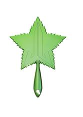 Green Leaf Chrome Hand Mirror
