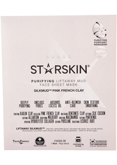 STARSKIN - STARSKIN SILKMUD™ Pink French Clay Purifying Liftaway Mud Face Sheet Mask - TUCHMASKEN