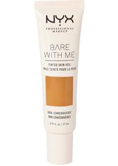 NYX PROFESSIONAL MAKEUP - NYX Professional Makeup Bare With Me Tinted Skin Veil Flüssige Foundation  27 ml Nr. 08 - Nutmeg Sienna - Bb - Cc Cream