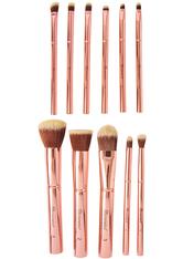 BH COSMETICS - Metal Rose 11 Piece Brush Set With Cosmetic Bag - MAKEUP PINSEL