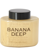 MAKEUP REVOLUTION - Loose Baking Powder  Banana Deep - GESICHTSPUDER