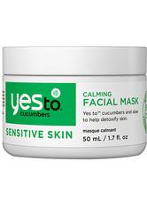 YES TO - Cucumbers Calming Facial Mask - CREMEMASKEN