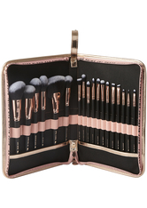 BEAUTY BAY - Rose Gold Glam 18 Piece Brush Set With Brush Stand - Makeup Pinsel