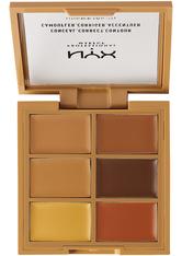 NYX Professional Makeup 3C Conceal, Correct, Contour Concealer Palette 9 g Nr. 03 - Deep