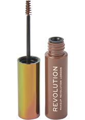 MAKEUP REVOLUTION - Good Vibes Brow Mascara with Cannabis Sativa Medium Brown - Mascara