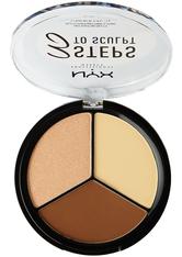 NYX Professional Makeup 3 Steps to Sculpt  Make-up Palette 15 g Nr. 02 - Light