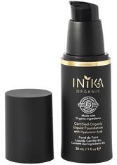 INIKA - INIKA Certified Organic Liquid Mineral Foundation with Hyaluronic Acid 30ml NL2 Cream (Light, Neutral) - FOUNDATION